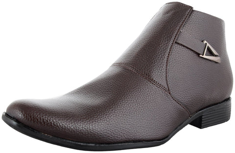 Zohran Men's Brown PU Boots 493