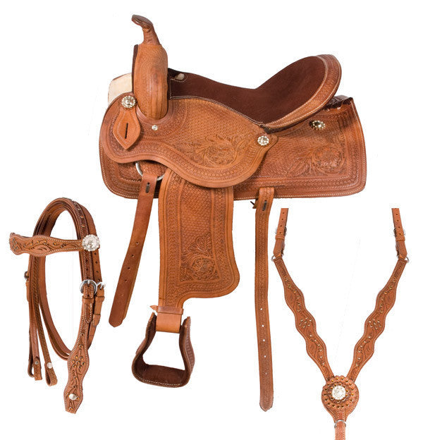 Leather Western Saddle WS-554 - Zohranglobal.com
