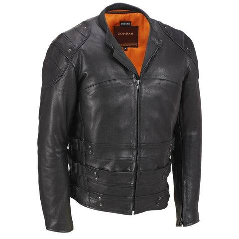 Men Black Leather Jacket JKT-113 - Zohranglobal.com