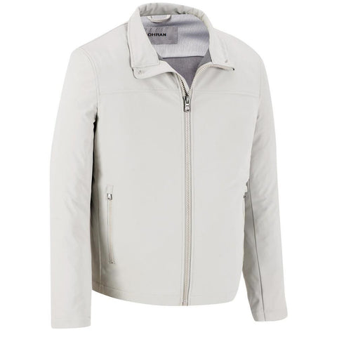 Men White Leather Jacket JKT-127 - Zohranglobal.com
