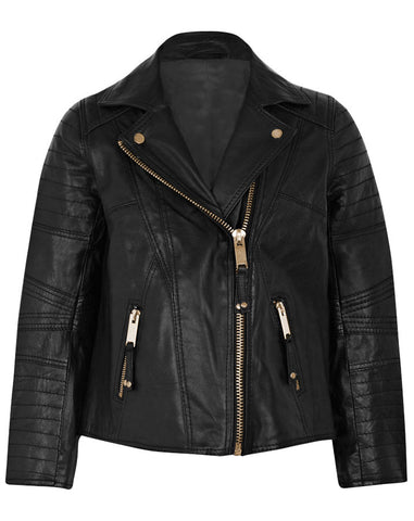 Kids Leather Jackets KGJKT-102 - Kids Leather Jackets - Zohranglobal.com