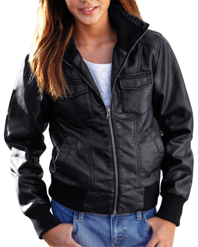 Kids Leather Jackets KGJKT-103 - Kids Leather Jackets - Zohranglobal.com