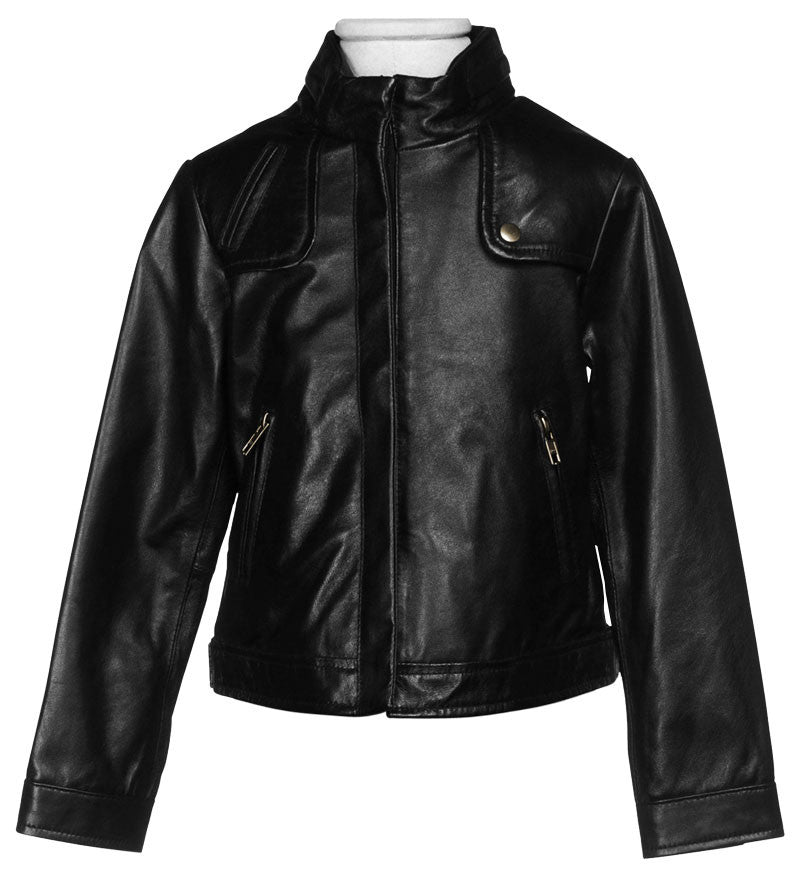Kids Leather Jackets KGJKT-111 - Kids Leather Jackets - Zohranglobal.com