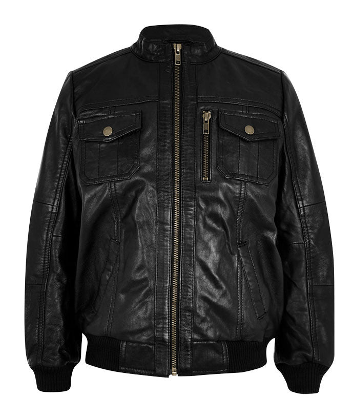Kids Leather Jackets KGJKT-112 - Zohranglobal.com