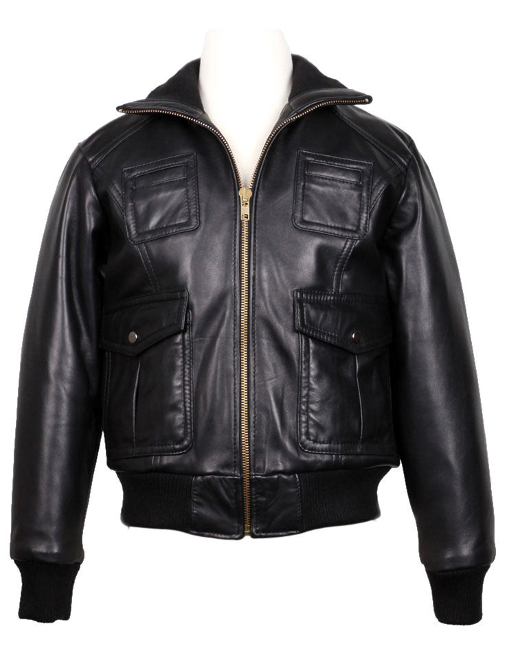 Kids Leather Jackets KGJKT-115 - Kids Leather Jackets - Zohranglobal.com