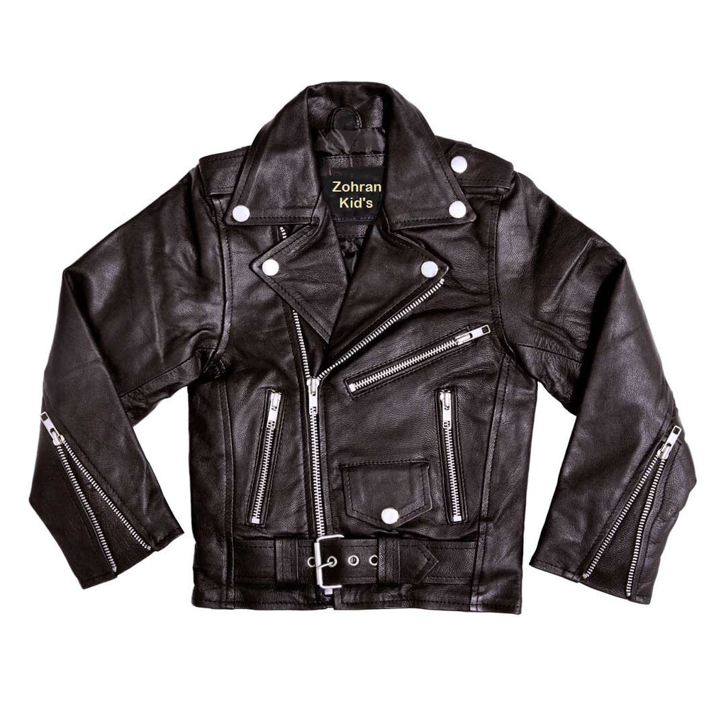 Kids Leather Jackets KGJKT-117 - Kids Leather Jackets - Zohranglobal.com