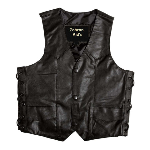 Kids Leather Vest KGJKT-118 - Kids Leather Jackets - Zohranglobal.com