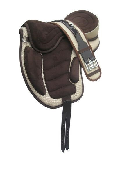 Treeless All Purpose Faux Suede Saddle TLS-106BR/CR