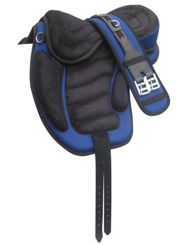 Treeless All Purpose Faux Suede Saddle TLS-121BLK/BLU