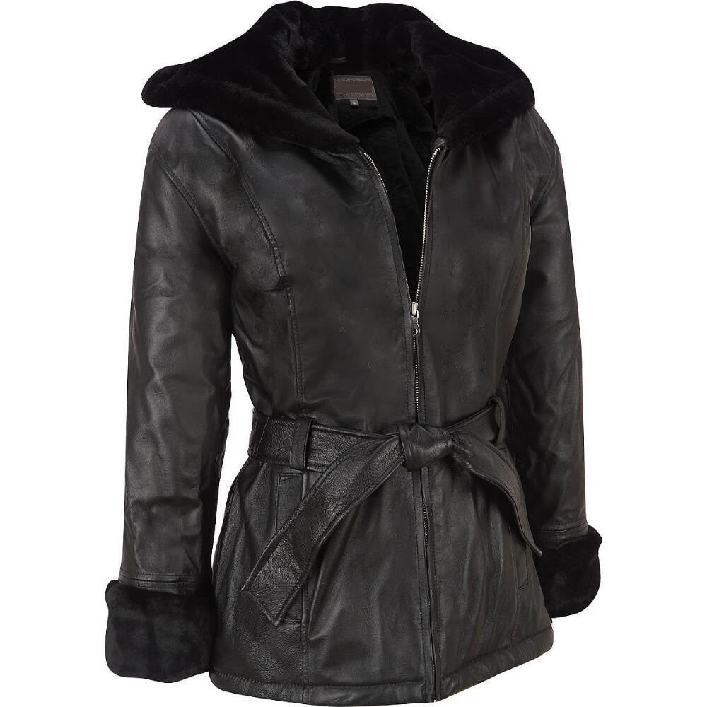 Women Black Leather Jacket WJKT-123 - Zohranglobal.com
