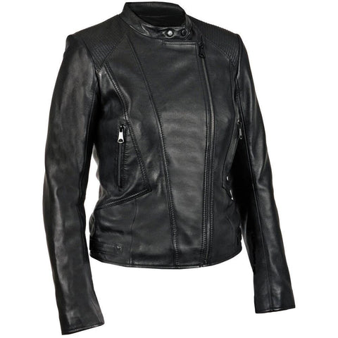 Women Black Leather Jacket WJKT-126 - Zohranglobal.com