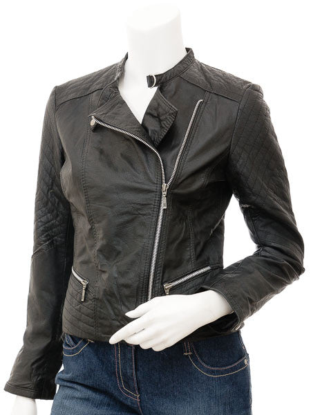Women Leather Jacket WJKT-503 - Zohranglobal.com