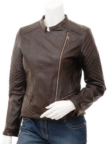 Women Leather Jacket WJKT-504 - Zohranglobal.com