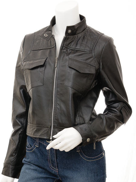 Women Leather Jacket WJKT-505 - Zohranglobal.com