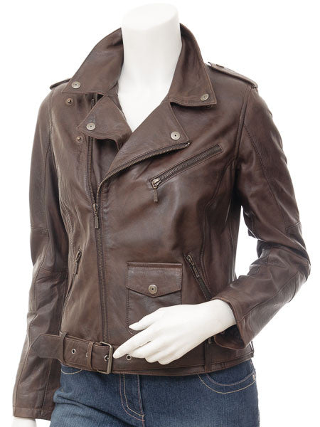Women Leather Jacket WJKT-512 - Zohranglobal.com