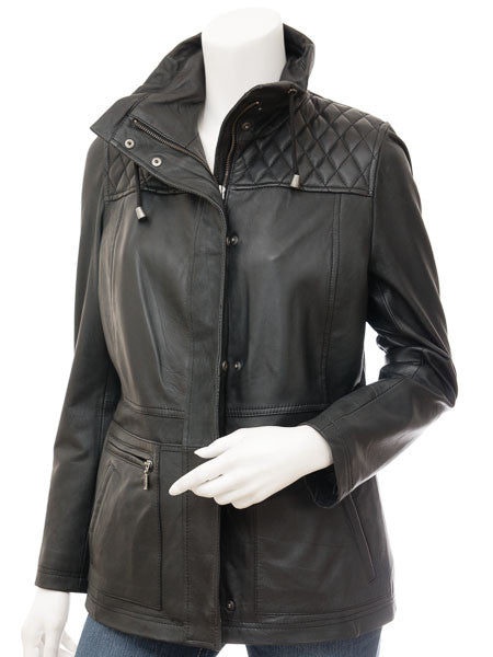 Women Leather Jacket WJKT-517 - Zohranglobal.com