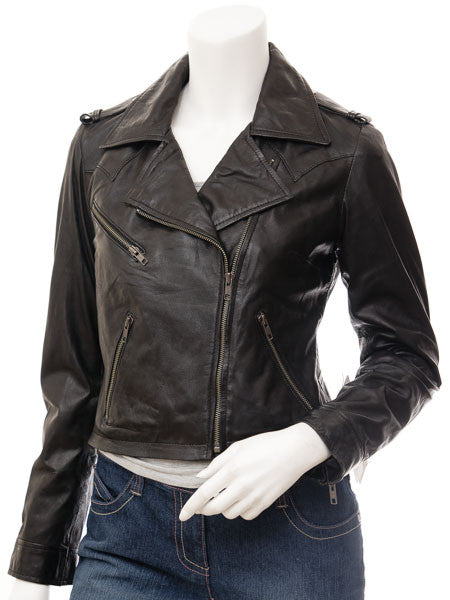 Women Leather Jacket WJKT-584 - Zohranglobal.com