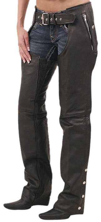 Women Leather Chaps WLCP-101 - Zohranglobal.com