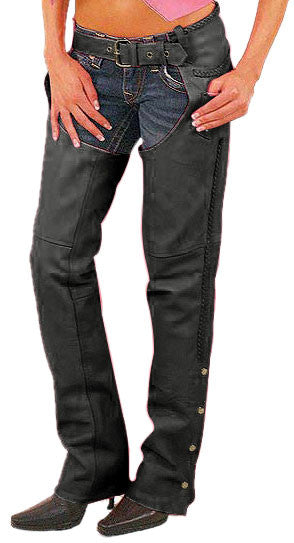Women Leather Chaps WLCP-105 - Zohranglobal.com