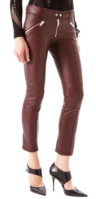 Women Leather Trouser WLTRS-111 - Zohranglobal.com