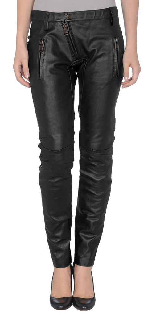 Women Leather Trouser WLTRS-117 - Zohranglobal.com