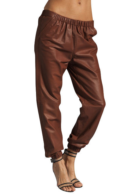 Women Leather Trouser WLTRS-120 - Zohranglobal.com