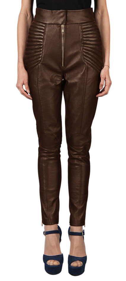 Women Leather Trouser WLTRS-127 - Zohranglobal.com