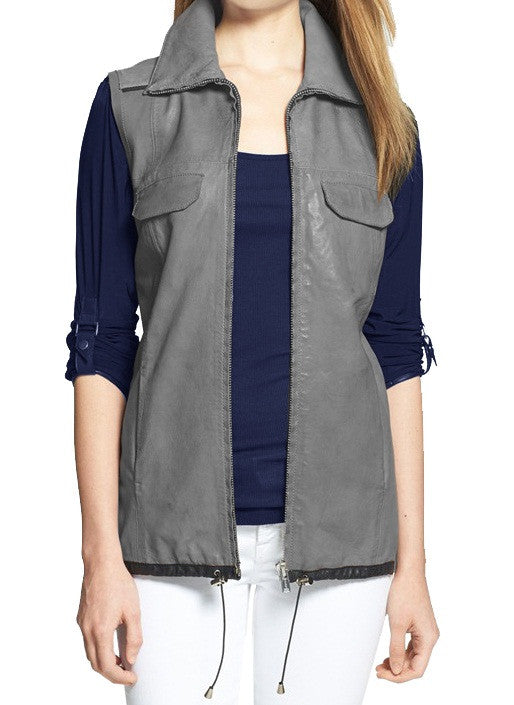 Women Leather Waist Coats WWSCT-102 - Zohranglobal.com