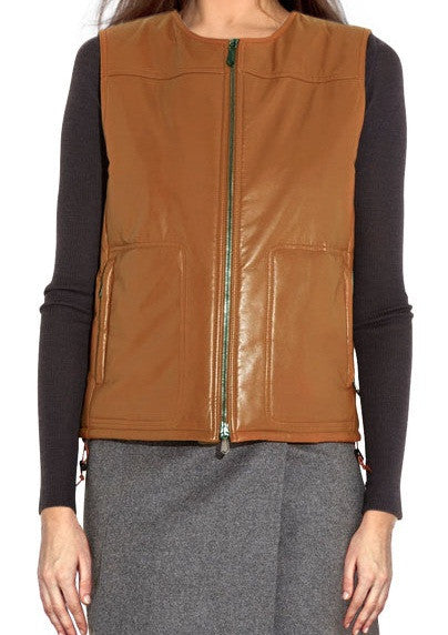 Women Leather Waist Coats WWSCT-105 - Leather Waistcoats - Zohranglobal.com