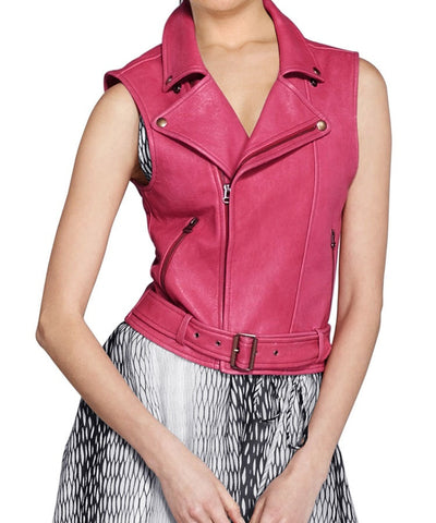 Women Leather Waist Coats WWSCT-106 - Leather Waistcoats - Zohranglobal.com