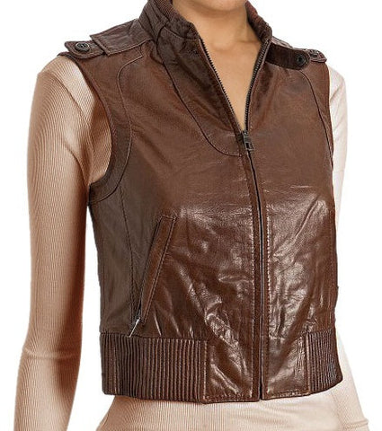 Women Leather Waist Coats WWSCT-110 - Zohranglobal.com