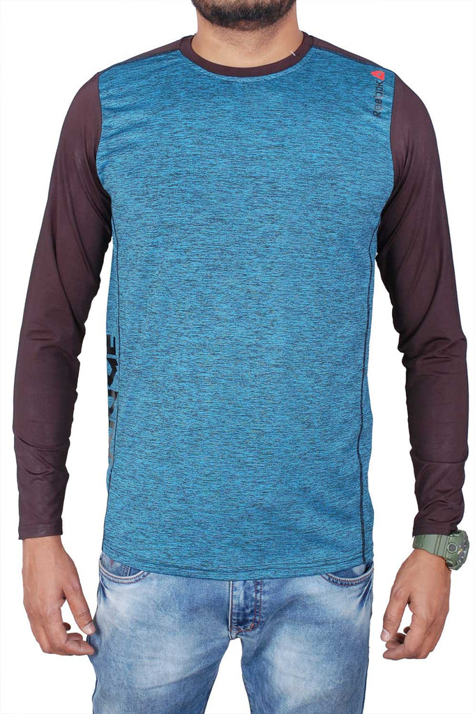 Reebok Men Blue Cotton T-Shirt TSC