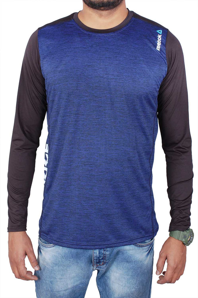 Reebok Men Blue Cotton T-Shirt TSD