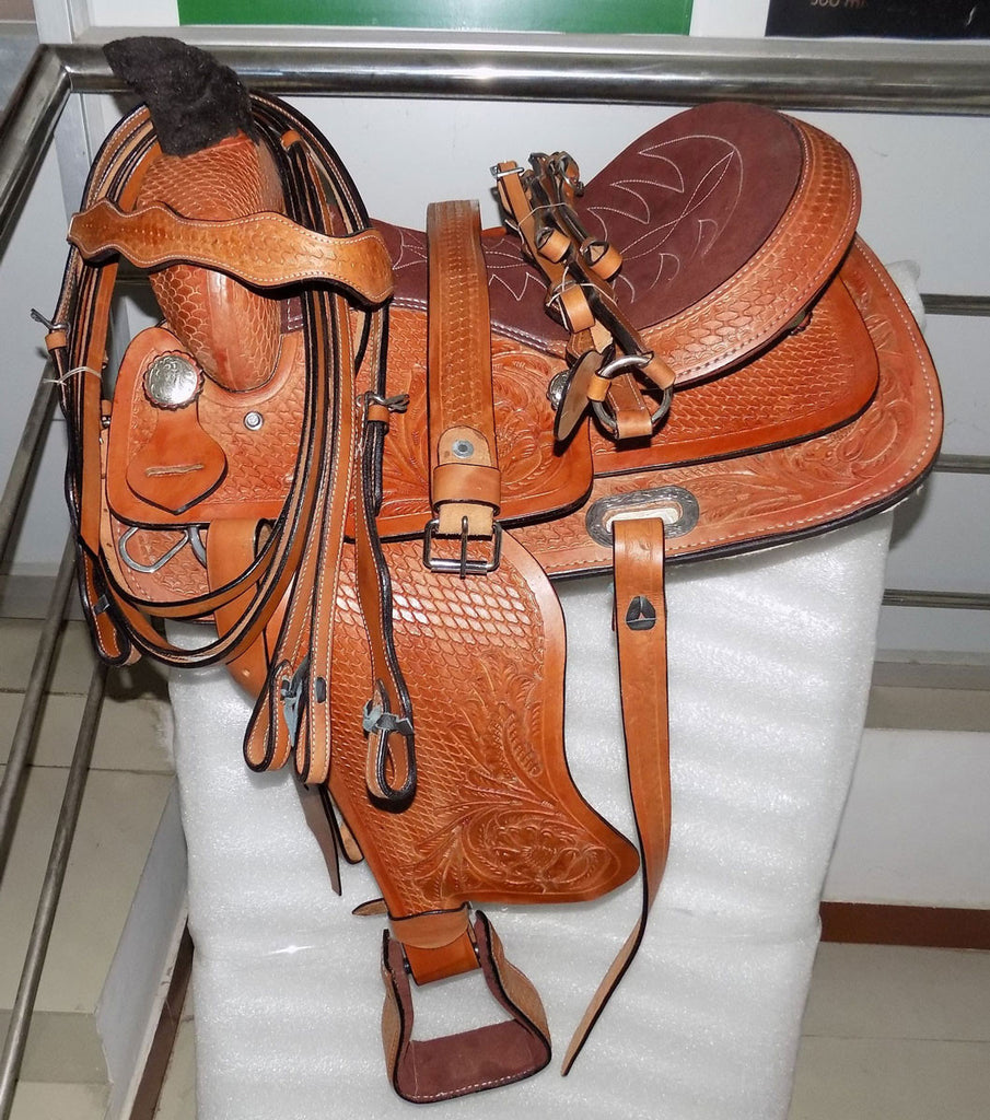 Leather Western Saddle WS-107 - Zohranglobal.com