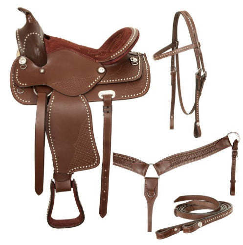 Leather Western Saddle WS-108 - Zohranglobal.com