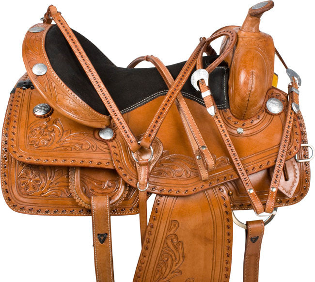 Leather Western Saddle WS-158 - Zohranglobal.com