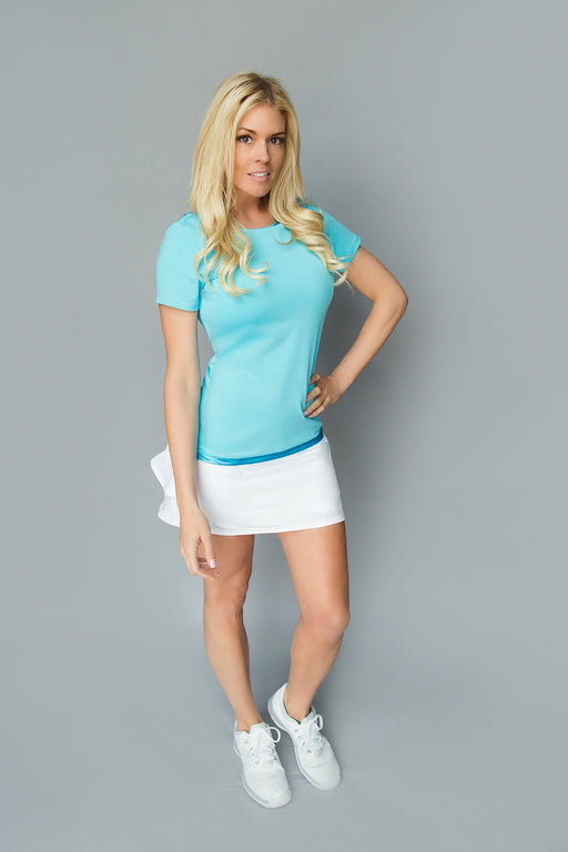 Scoop Back Golf Tee - Bright Teal Blue - FlirTee Golf
