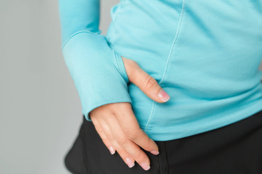 Cutout Long Sleeve Golf Shirt - Bright Teal Blue - FlirTee Golf