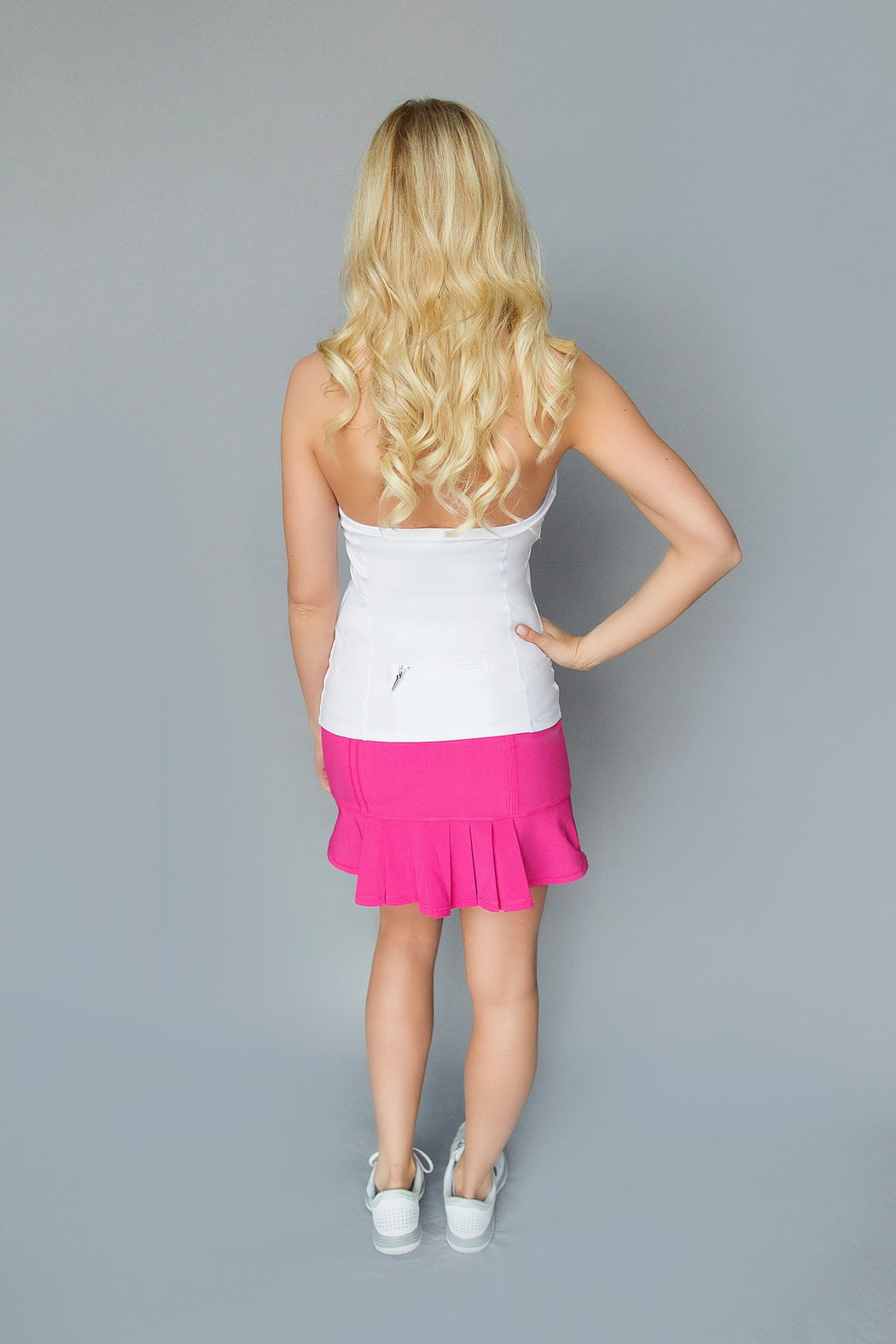 Front/Back Pleated Golf Skirt - Classic Pink - FlirTee Golf
