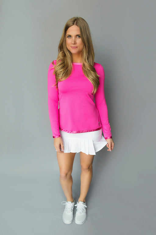 Scoop Back Golf Tunic - FlirTee Pink - FlirTee Golf