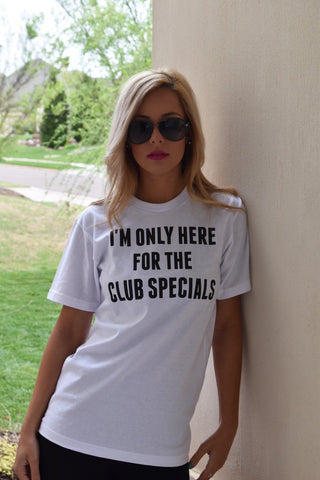"Only Here for the Club Specials - Flir""Tee"" - Grey"