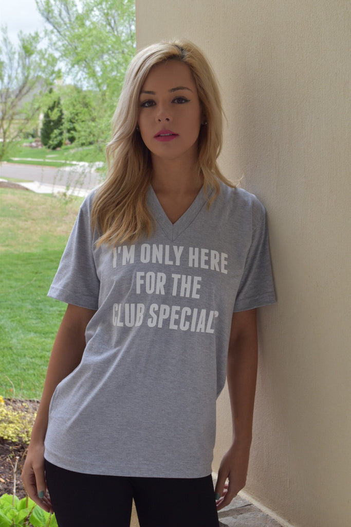 "Only Here for the Club Specials - Flir""Tee"" - Grey - FlirTee Golf"