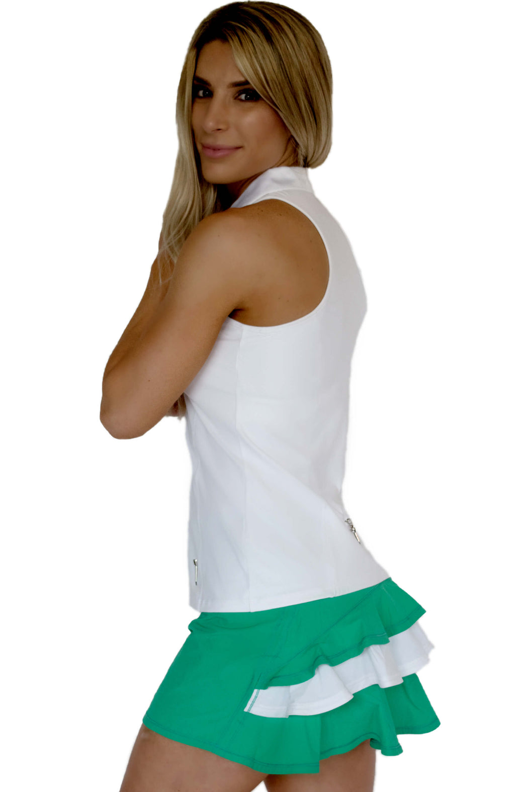 NEW! Racerback Golf Polo - White