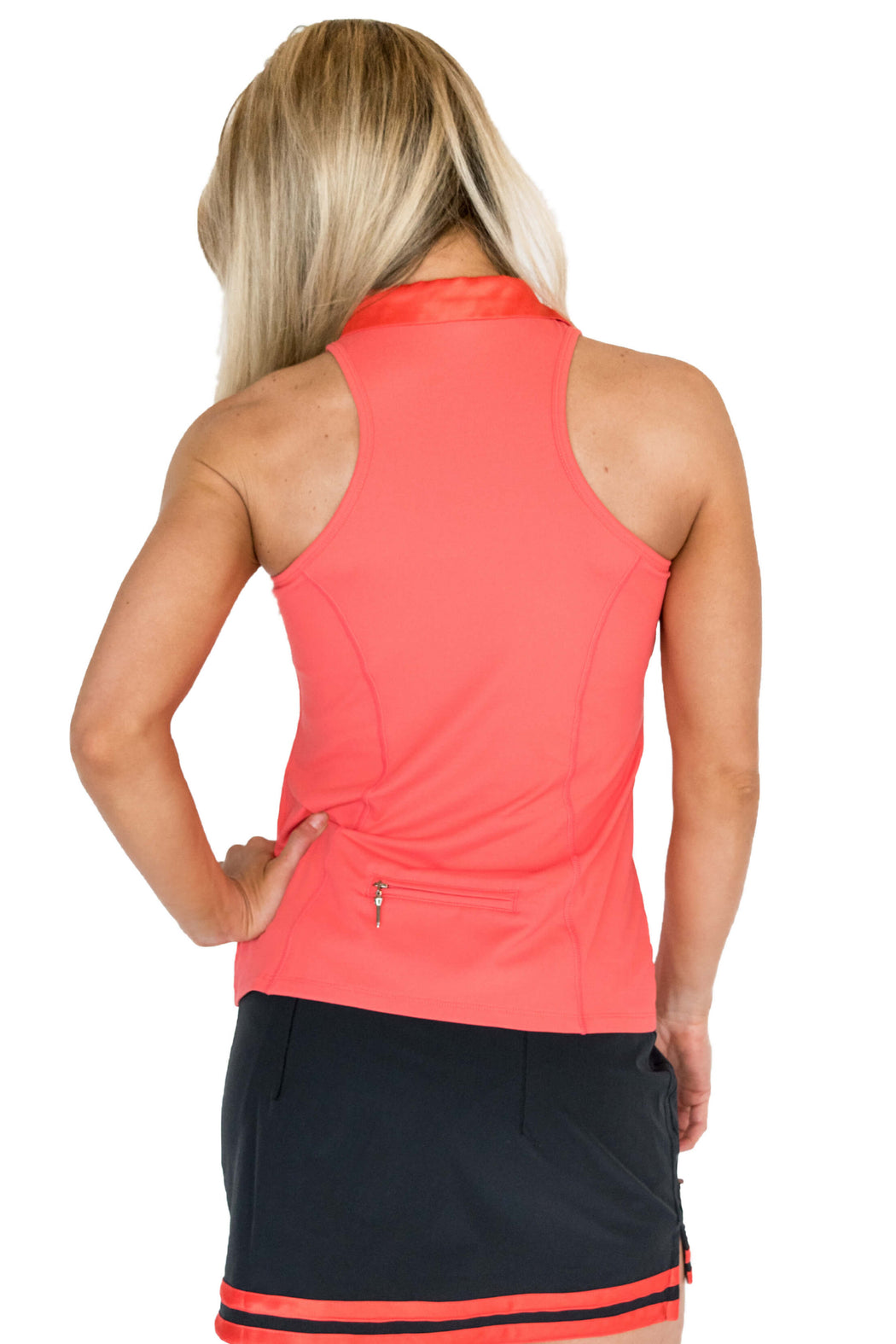 NEW! Racerback Golf Polo - Haute Coral - FlirTee Golf