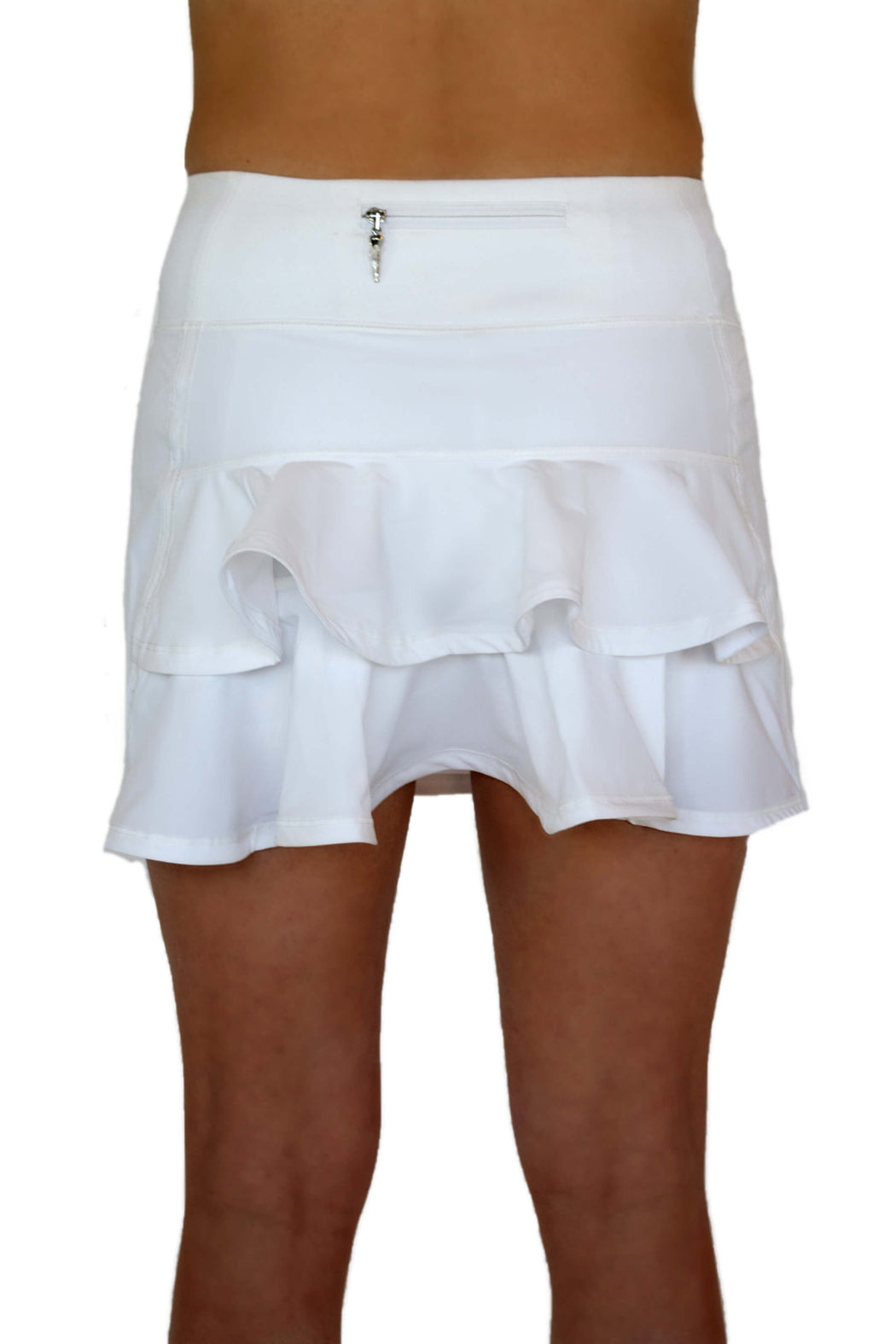 NEW! Double Ruffle Golf Skirt - White - FlirTee Golf