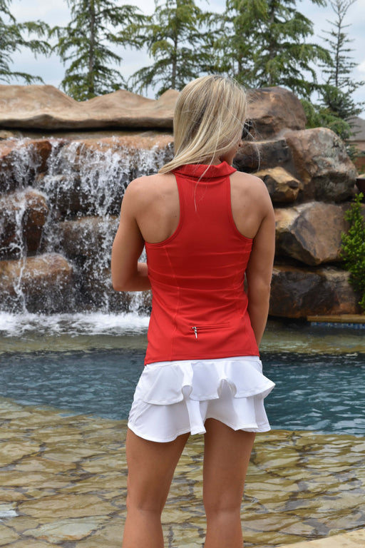 NEW! Double Ruffle Golf Skirt - White