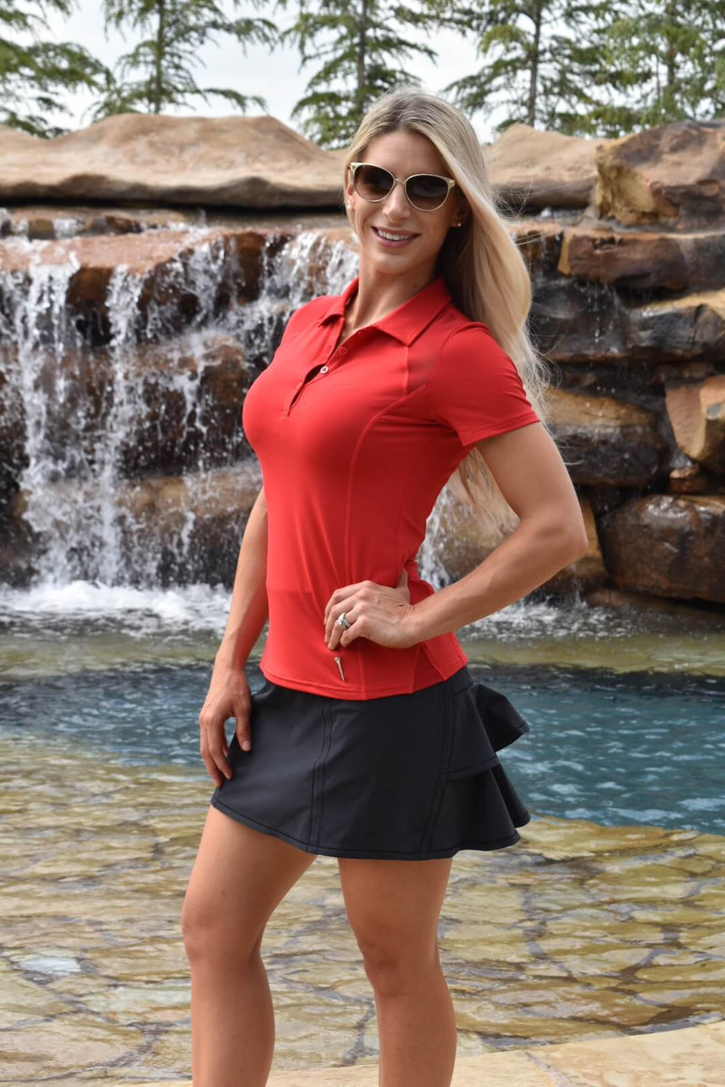 NEW! Double Ruffle Golf Skirt - Black - FlirTee Golf