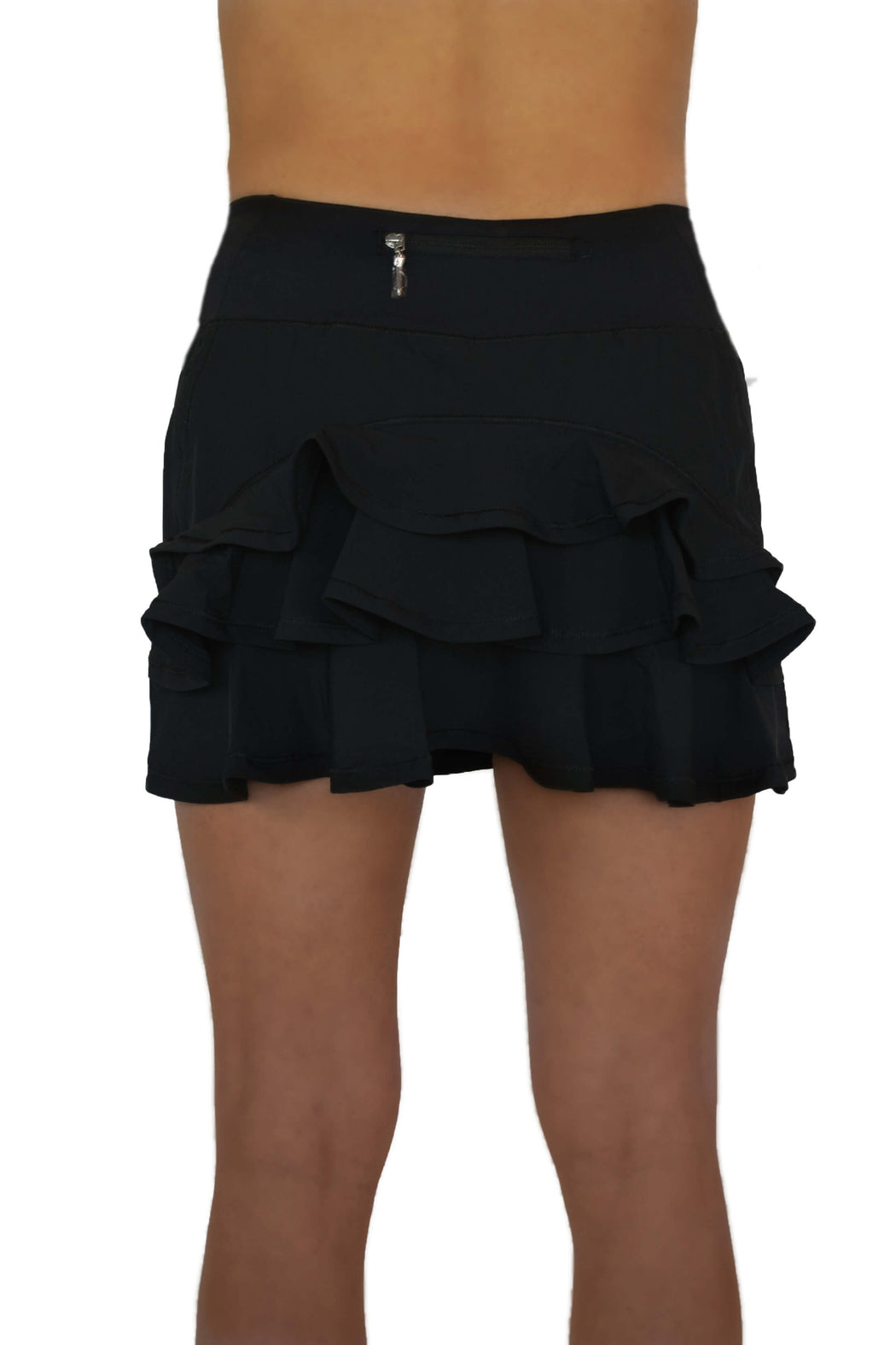 NEW! Ruffle Butt Golf Skirt - Black - FlirTee Golf