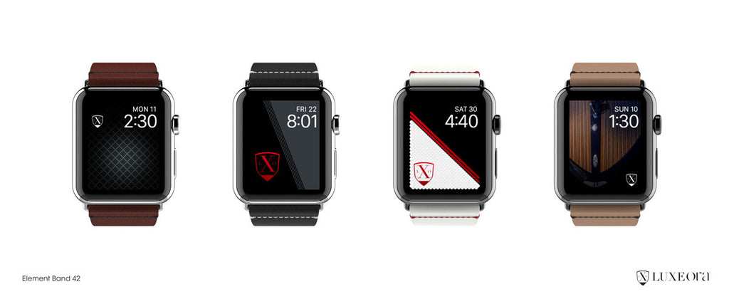 Leather Element Bands for Apple Watch
