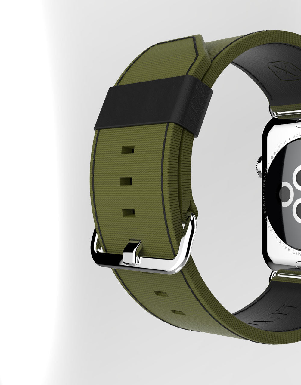 Apple Watch Luxury Bravo Band 42 Spec-Op Green by Luxeora